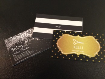 salon m hair stylist business cards